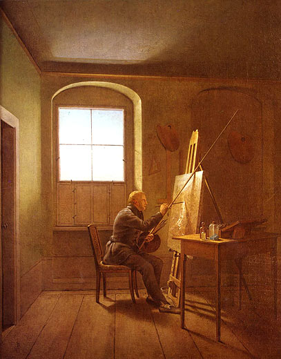 meisterwerke online de caspar david friedrich in seinem atelier georg friedrich kersting. Black Bedroom Furniture Sets. Home Design Ideas