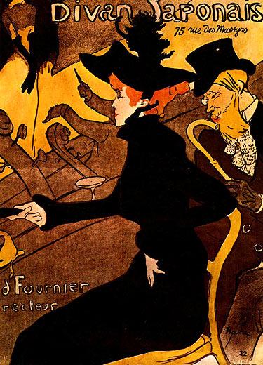 Meisterwerke online de le divan japonais henri de for Divan japonais toulouse lautrec