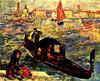Gondel auf dem Canale Grande, Venedig